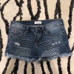 Women's or juniors jean shorts